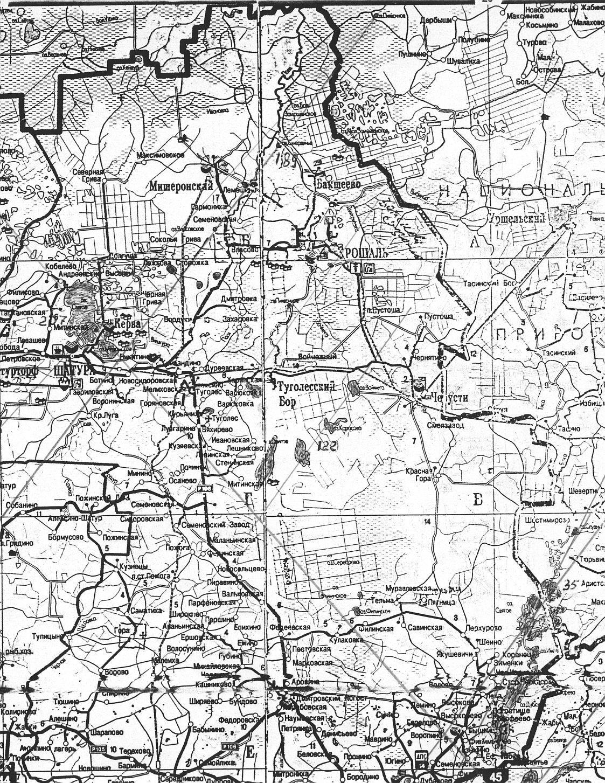 Карта Шатурского кратерного поля